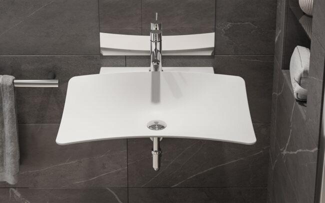 Lavabo Shine Washbasin Rodighiero Design for All Inclusive Design